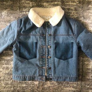 HYFVE Denim Jacket with Fur Lining